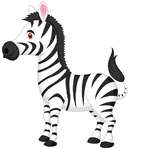 Zebra clipart black and white free images 3