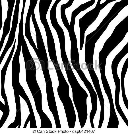 Zebra print -hand drawn black on white