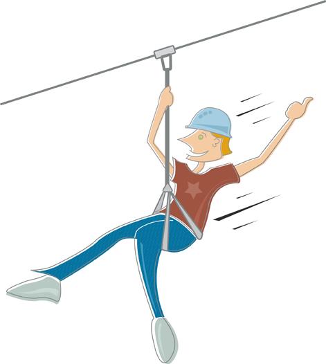 Zip line clipart
