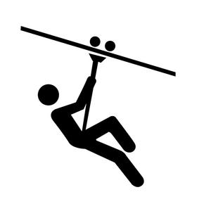 Ziplining Icon Free Images At Clker Com Vector Clip Art Online