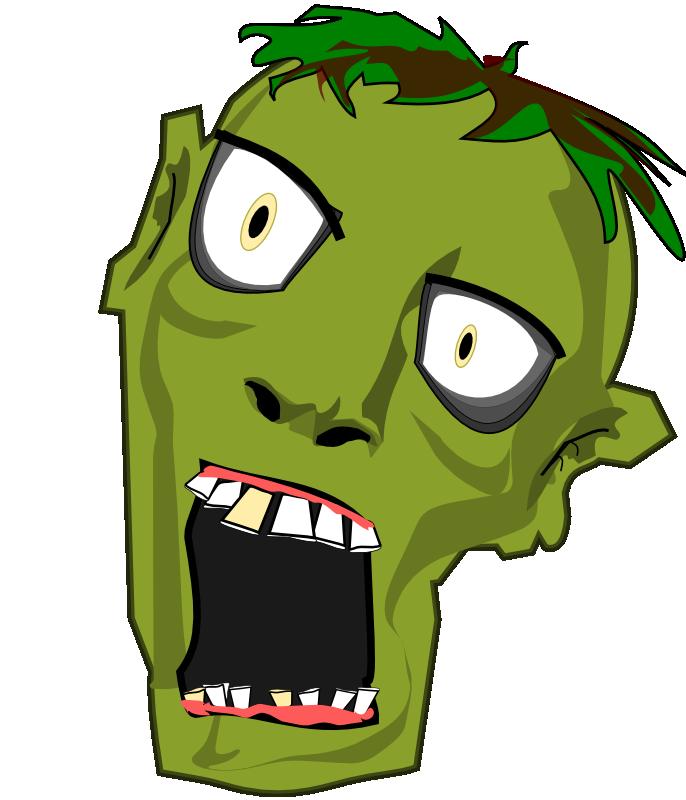 Zombie Head Clipart #1