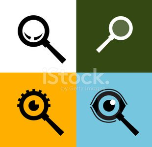 Arama vektör logo tasarım � - Zoom Logo Clipart