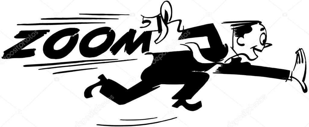 Clipart: Man Running | Man Running, Text: Zoom — Stock Vector Hdclipartall.com
